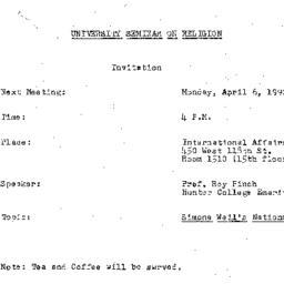 Announcements, 1992-04-06. ...