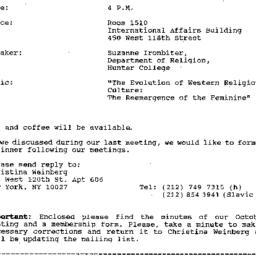 Announcements, 1992-11-02. ...