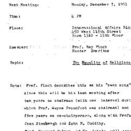 Announcements, 1992-12-07. ...