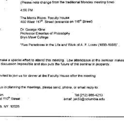 Announcements, 1998-12-08. ...