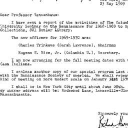 Correspondence, 1970-05-23....
