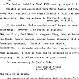 Correspondence, 1988-04-19....