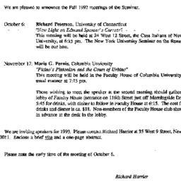Correspondence, 1992-09-24....