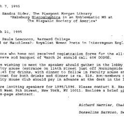 Correspondence, 1995-02-01....