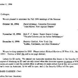 Correspondence, 1994-09-01....