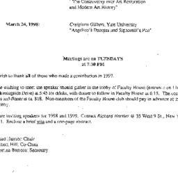 Correspondence, 1998-03-24....