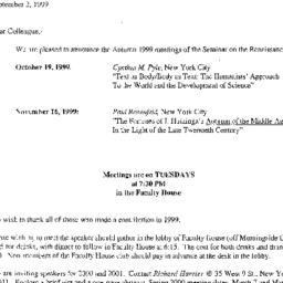 Correspondence, 1999-09-02....