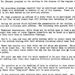 Minutes, 1947-12-22. Rural ...