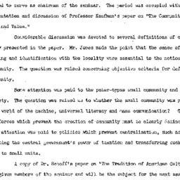 Minutes, 1953-03-11. Rural ...