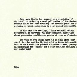 Correspondence, 1958-05-08....