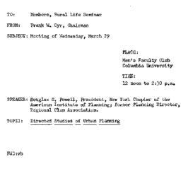 Announcements, 1961-03-23. ...