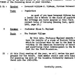 Announcements, 1963-04-19. ...