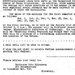 Announcements, 1957-09-23. ...
