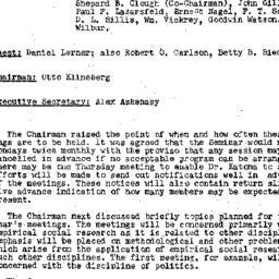 Minutes, 1957-10-07. Conten...