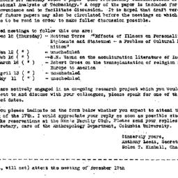 Announcements, 1960-11-06. ...