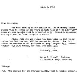 Correspondence, 1965-03-05....
