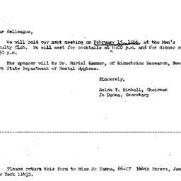 Correspondence, 1966-02-02....