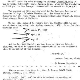 Announcements, 1967-02-14. ...