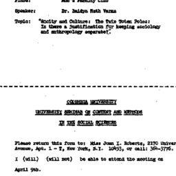 Announcements, 1968-04-09. ...
