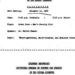 Announcements, 1967-12-12. ...