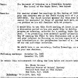 Announcements, 1968-10-08. ...