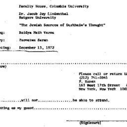 Announcements, 1972-11-08. ...