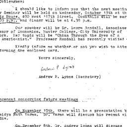 Correspondence, 1976-10-01....