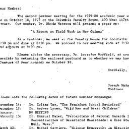 Correspondence, 1979-10-01....