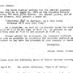 Correspondence, 1981-02-28....