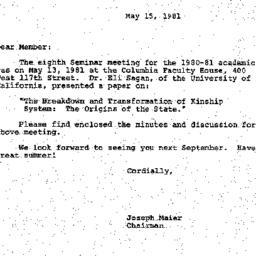 Correspondence, 1981-05-15....