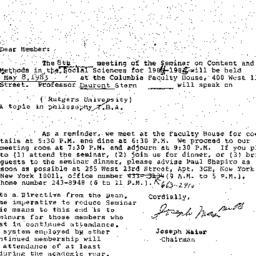 Correspondence, 1985-04-15....