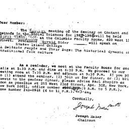 Announcements, 1986-04-09. ...