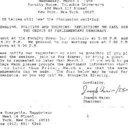 Announcements, 1988-03-09. ...