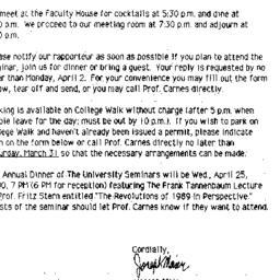 Announcements, 1990-04-04. ...