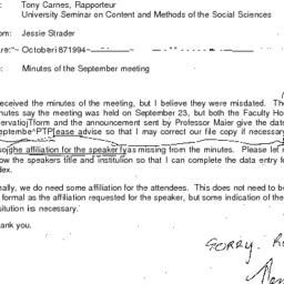 Correspondence, 1994-10-18....