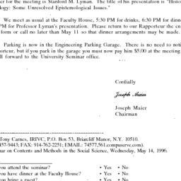 Correspondence, 1996-05-01....