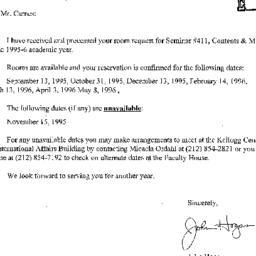 Correspondence, 1996-07-28....