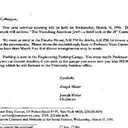 Correspondence, 1999-02-26....