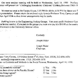 Correspondence, 1999-03-31....