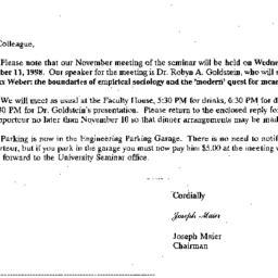 Correspondence, 1998-10-24....