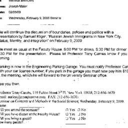 Correspondence, 2000-02-03....