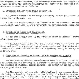 Minutes, 1949-03-31. Labor,...