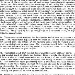 Minutes, 1951-05-31. Labor,...