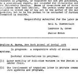 Handouts, 1957-04-03. Labor...