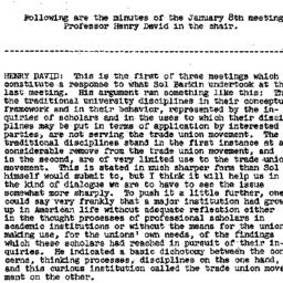 Minutes, 1958-01-08. Labor,...