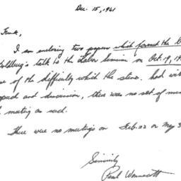 Correspondence, 1960-12-15....