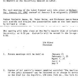 Announcements, 1961-12-28. ...