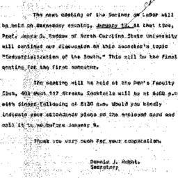 Announcements, 1966-01-02. ...