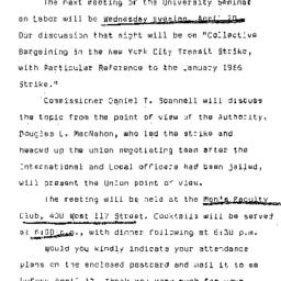 Announcements, 1966-04-20. ...