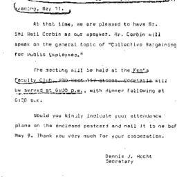 Announcements, 1966-05-11. ...